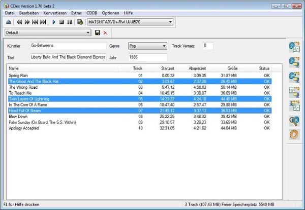 CDex screenshot